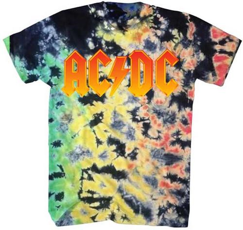 AC/DC Tie Dye Logo T-Shirt