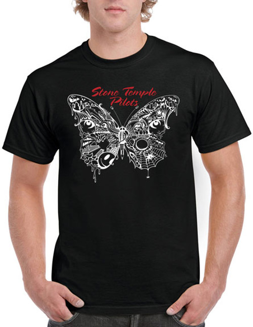 Stone Temple Pilots Webbed Butterfly T-Shirt