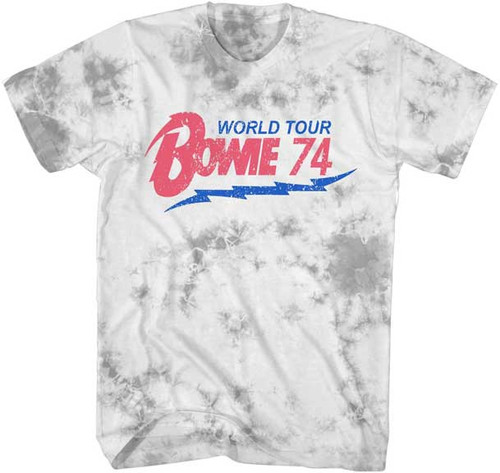 David Bowie World Tour '74 on Washed T-Shirt
