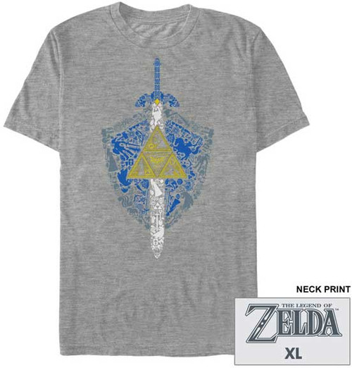 Nintendo Zelda Iconic Weapon Premium T-Shirt