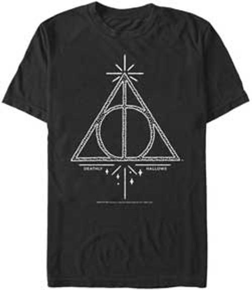 Harry Potter Deathly Hallows Line Symbol Premium T-Shirt