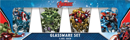 Marvel Avengers 4 Piece Shot Glass Set