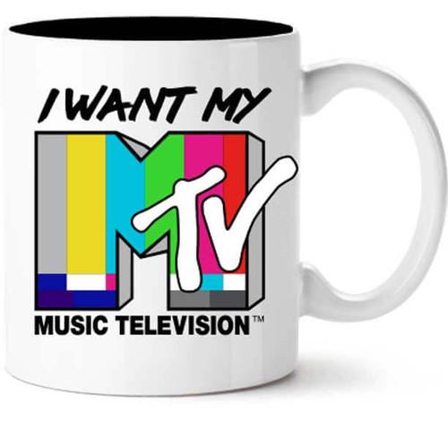 I Want My MTV Color Test Mug