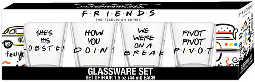 Friends Shot Glasses - Set of 4 Boxed