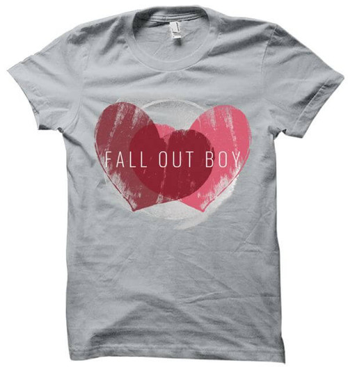 Fall Out Boy Weathered Hearts Ladies T-Shirt
