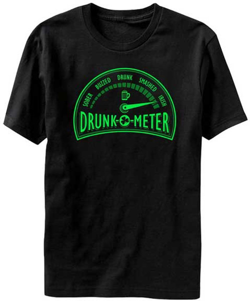 Drunk-o-Meter Irish Level T-Shirt
