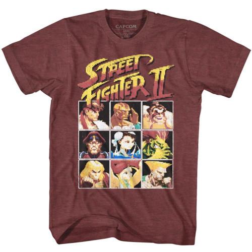 Street Fighter 8-Bit Vintage T-Shirt