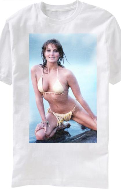 Bo Derek in Gold on Beach T-Shirt