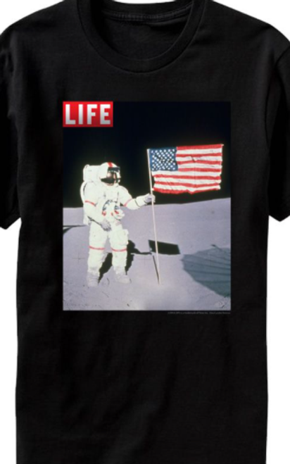 Life Magazine Moon Flag T-Shirt