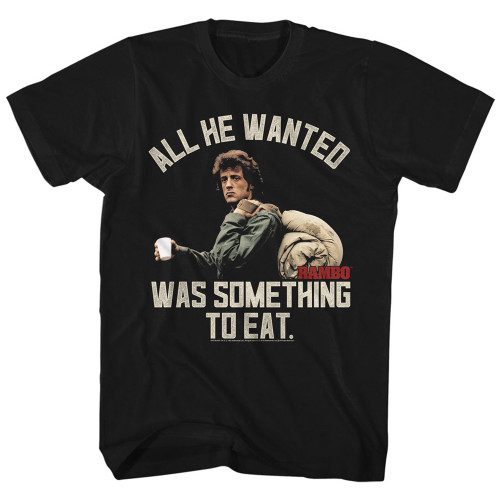 Rambo Something to Eat T-shirt