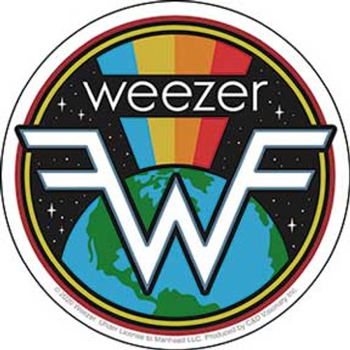 Weezer Earth Rainbow Sticker