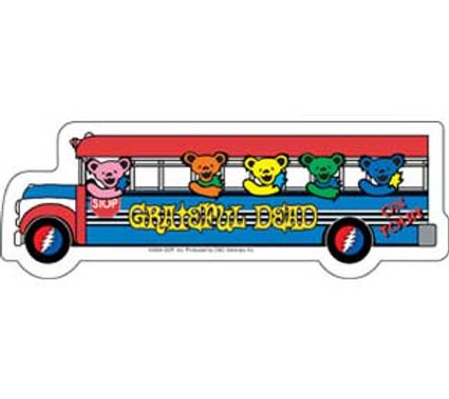 Grateful Dead Bears on a Bus Sticker