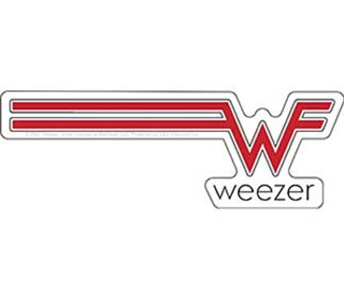 Weezer Red Logo Sticker