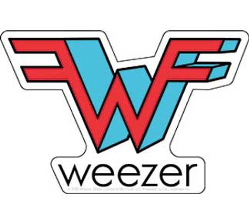 Weezer Die Cut Logo Sticker