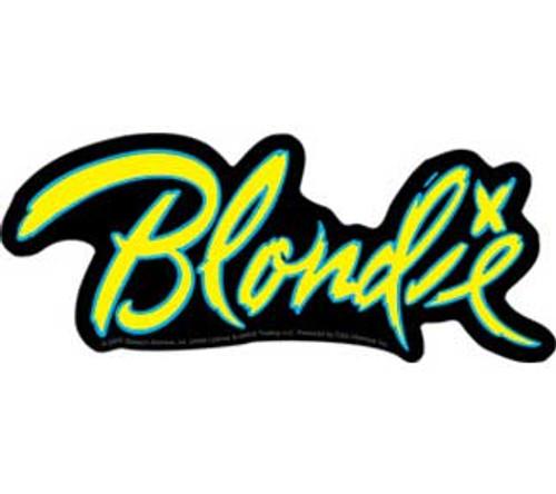 Blondie Die Cut Logo Sticker