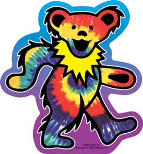 Grateful Dead Tie Dye Dancing Bear Die Cut