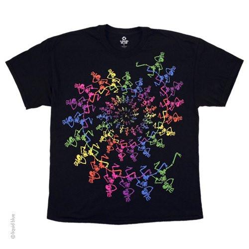 Grateful Dead Spiral Skeletons T-shirt