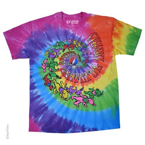 Grateful Dead Spiral Trippy Bears Tie Dye T-shirt
