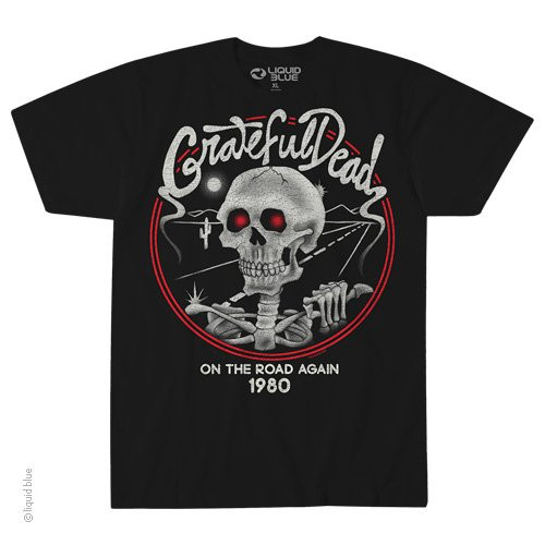 Grateful Dead On the Road Again 1980 T-shirt