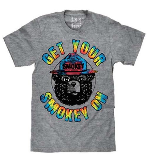 "Smokey the Bear ""Get Your Smokey On"" Tie Dye"