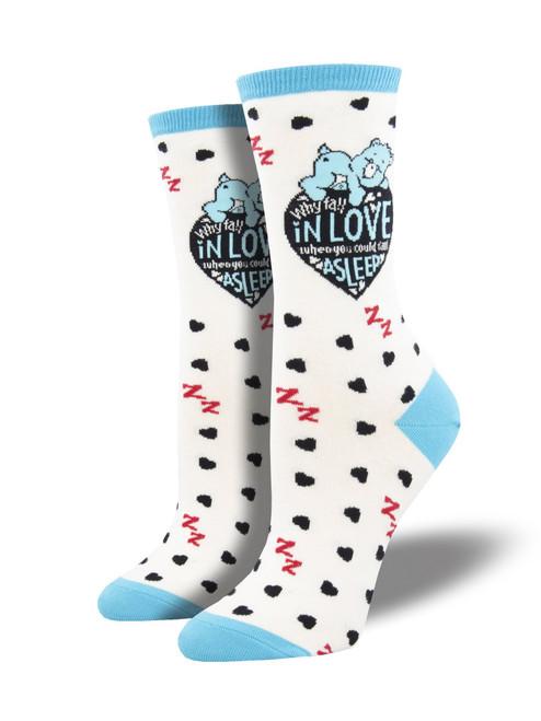 "Women's Care Bears ""Love Vs Sleep"" Socks"
