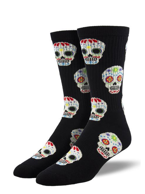 Candy Skull Athletic Socks