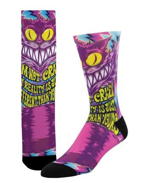 """Cheshire"" Alice in Wonderland Socks"