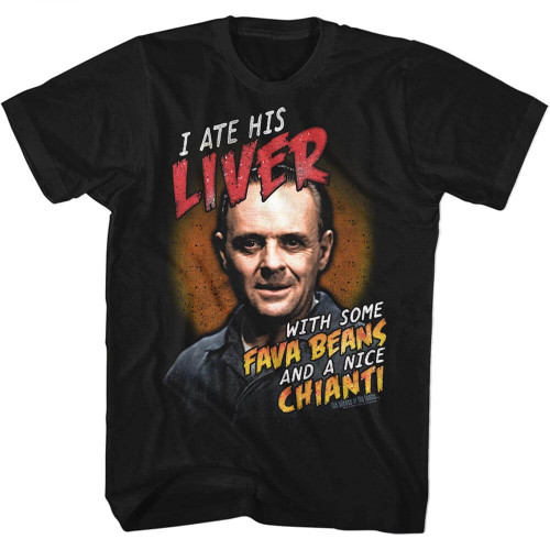Silence of the Lambs Fava Beans & Chianti T-Shirt