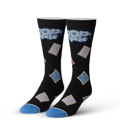 Pop Tarts Black Crew Socks