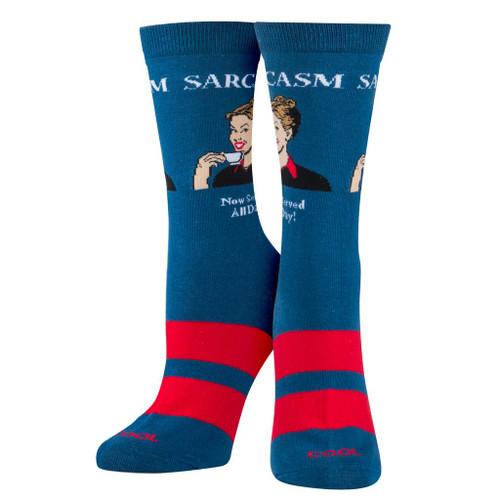 Women's Sarcasm Crew Socks