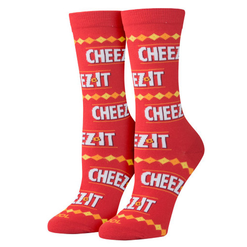Women's Cheez It Stripes Crew Socks