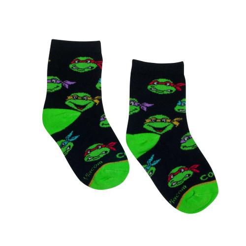 TMNT Heads Socks Kids 4-7