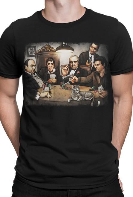 Big Chris Art Gangsters Playing Poker T-Shirt
