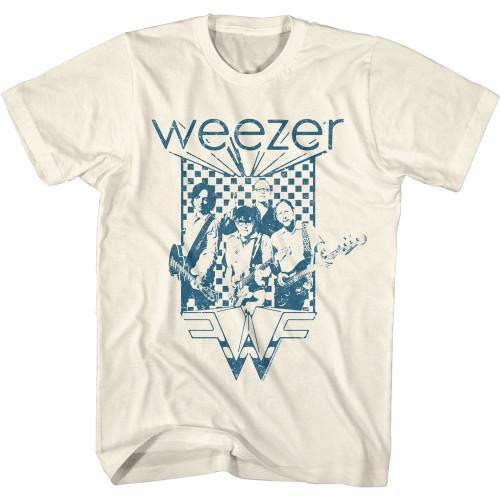 Weezer Blue Checkered T-Shirt