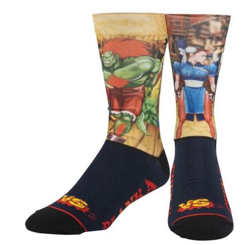 Street Fighter Chun-Li Vs Blanka Crew Socks