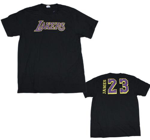 LA Lakers Lebron James #23 F/B Design T-Shirt