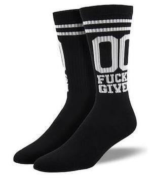 Zero F*cks Given Socks