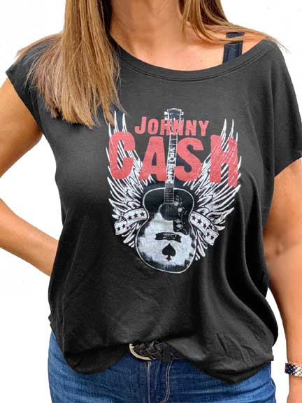 a37b07bc Johnny Cash Womens Dolman style Shirt | Vintage Metal Rock Shirt