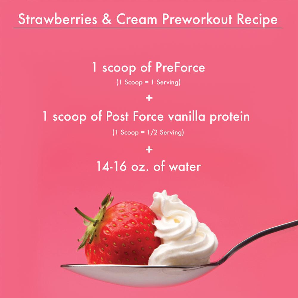 Delicious Preworkout and Vanilla Protein Recipe