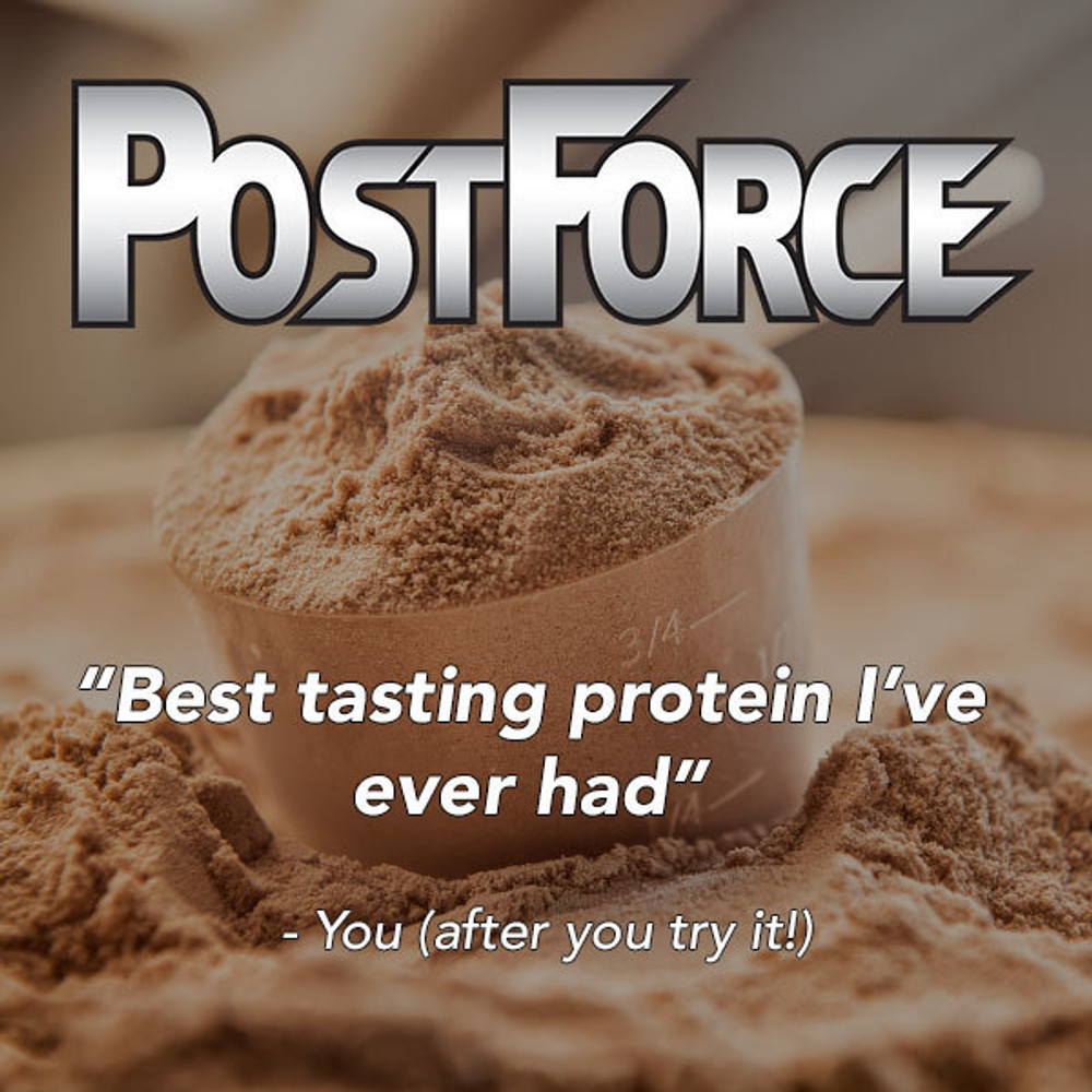CHOCOLATE POST FORCE PROTEIN - 1 Carb per Serving!