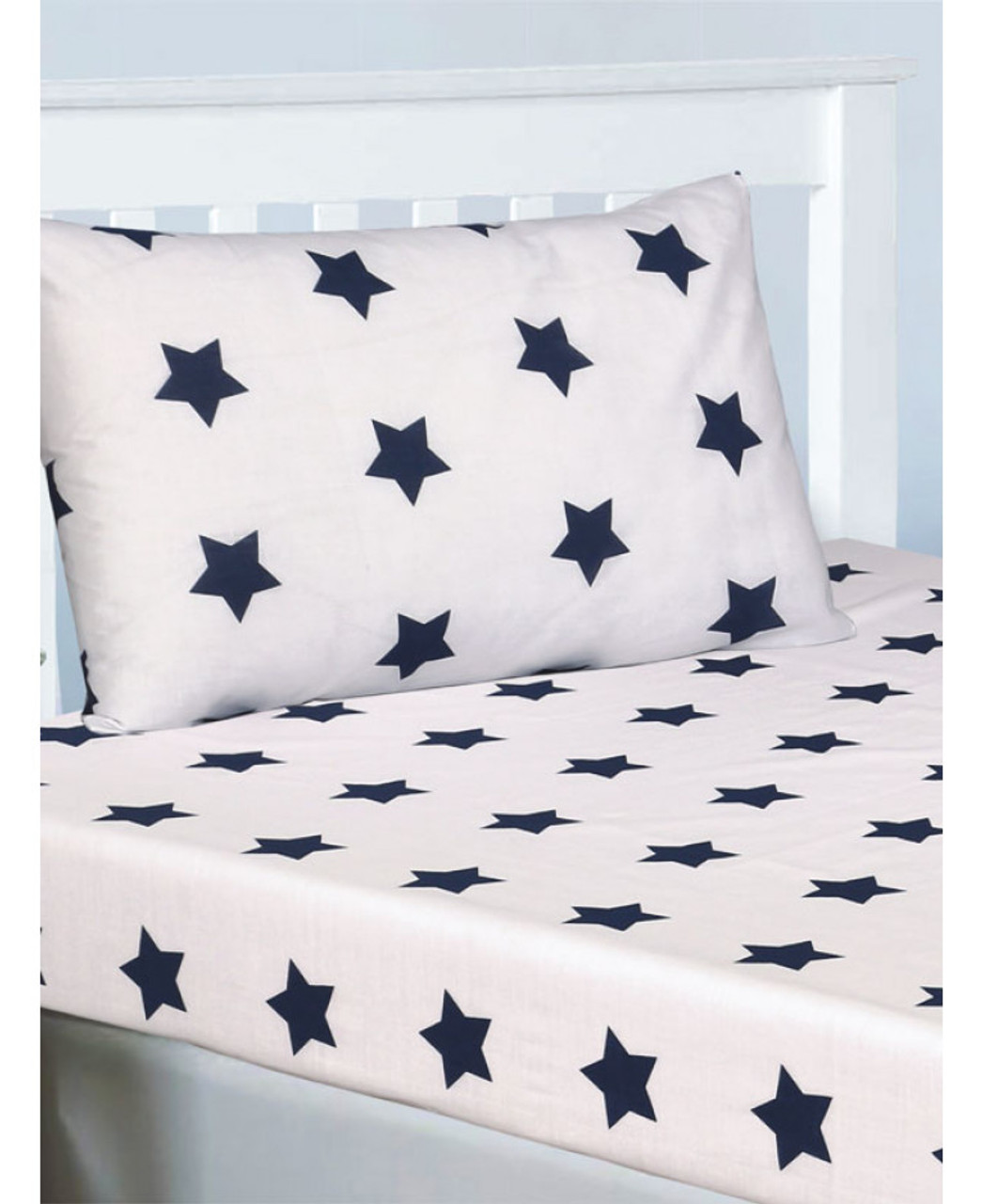 COLOURFUL STARS SINGLE FITTED SHEET /& PILLOWCASE SET BEDDING GIRLS