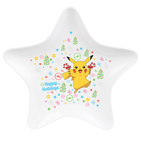 Pokemon Star Christmas Plate