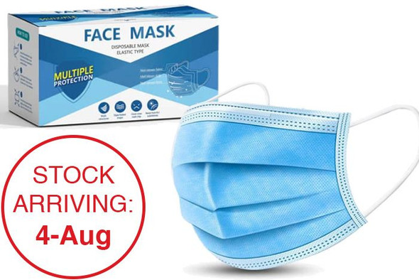 Multi Medical Disposable Face Mask - Elastic Type 3ply 50 Pack