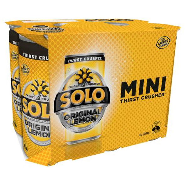 Solo Original Lemon 200ml 6 Pack