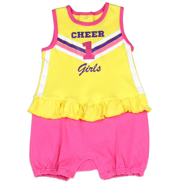 Baby Girls New Born Buster Brown Cheer 1 Novelty Romper