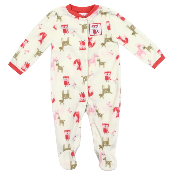 Baby Girls New Born Animal Soft Plush Grow Suit