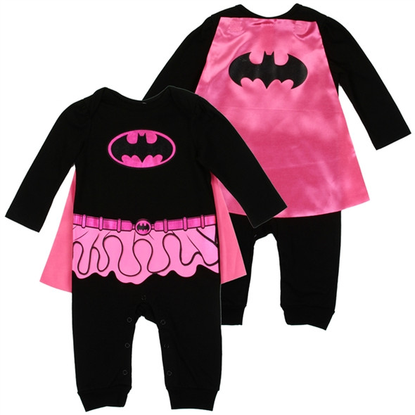 Baby Girls New Born Batgirl  Grow Suit with Cape