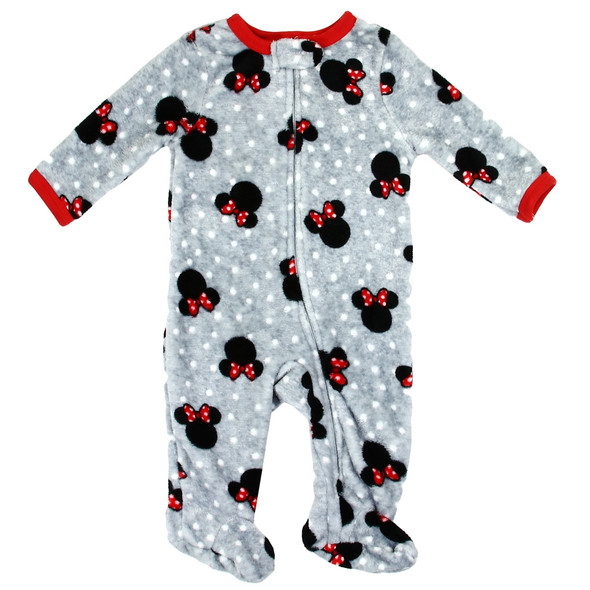 Baby Girls New Born Fleece Minnie Mouse Grow Suit
