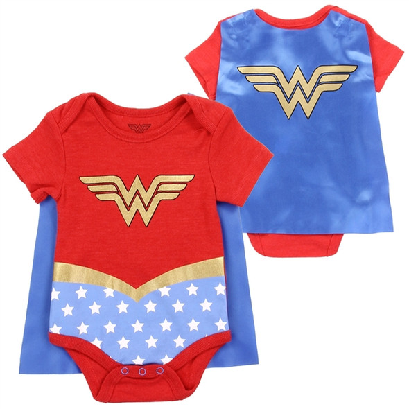 Baby Girls New Born Wonder Woman Bodysuit  with Cape
