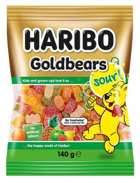Haribo Sour Goldbears 140g